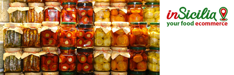 Online sales of Sicilian Preserves - on insicilia.com sale of traditional Sicilian food wholesale and retail