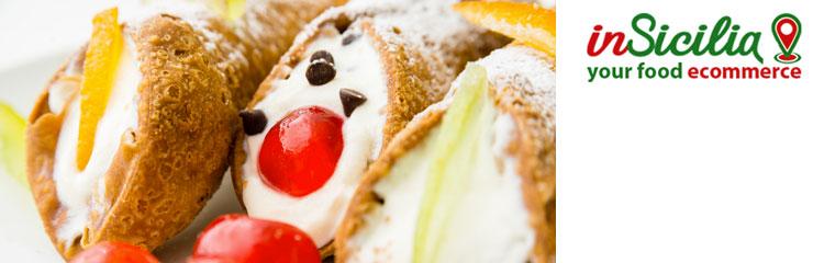 Vendita on line Cibo Tradizionale Siciliano - su insicilia.com vendita di cibo tradizionale siciliano ingrosso e dettaglio cannoli siciliani, cassate e dolci siciliani
